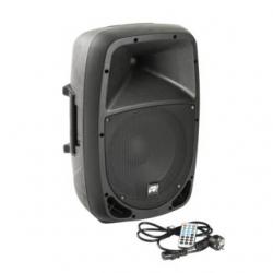 Coluna amplificada Music Store GO! 10A - 300-480W - 10 polegadas - USB + MP3 + SD Cards + Bluetooth + Radio + Comando - biamplificacao