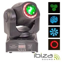 Moving-Head de Leds Ibiza MHSPOT30-FX - 55W - Spot + 13 Leds - DMX