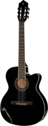 Guitarra Semi-Acustica Harley Benton Santos Series C-40SCE BK - 4/4 - nylon - preto