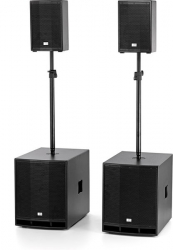 P.A. amplificado The Box CL 108/115MKII Power Bundle - 4.200W-4.800 - 2 Subgraves + 2 Tops + 2 Barras + Cabos