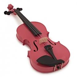 Violino Acustico Gear4music Student Full Size - 4/4 - preto, azul, roxo, branco, antique fade ou rosa