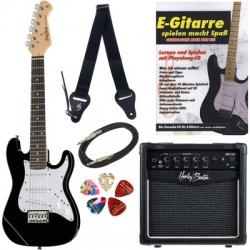 Pack de Guitarra Thomann Junior Guitar Set 1 BK - Guitarra + Amplificador + Cabo + Alca + Palhetas + Livro - para criancas
