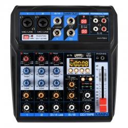 Mesa de Mistura Free B. AMPSM - 6 vias - Efeitos + USB + MP3 + Bluetooth