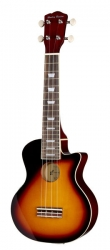 Ukelele Semi-Acustico Harley Benton UK-L100E VS - Soprano - vintage sunburst