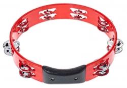 Pandeireta Millenium RT100 - redondo - plastico rigido - vermelho ou outra