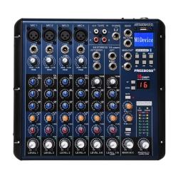 Mesa de Mistura Free B. SMR 8 - 8 vias - Efeitos + USB + MP3 + Bluetooth