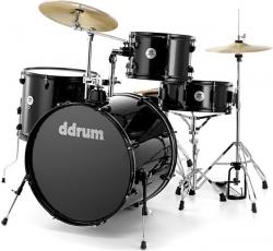 Bateria Acustica completa DDrum D2 Rock Starter Set + 3 Pratos - black sparkle