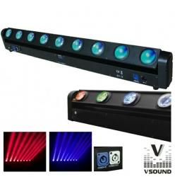 Barra de Leds com rotacao VSound LEDMV810RGBW Led Cree - 8x10W - RGBW - DMX