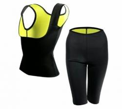Conjunto de Cinta + Calcas de Fitness KLS Reduce Shaper - para mulher - emagrece por efeito de sauna (igual ao Redu Shaper) - em preto