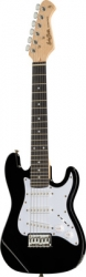Guitarra Harley Benton ST-Junior BK Standard Series - preto - junior - para criancas