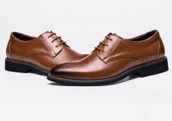 Sapatos de Homem Hee grand Plyx - pele/PU/borracha - sola rasa - em preto, azul, castanho escuro ou castanho claro