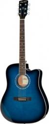 Guitarra Semi-Acustica Harley Benton D-120CE TB - aco - azul