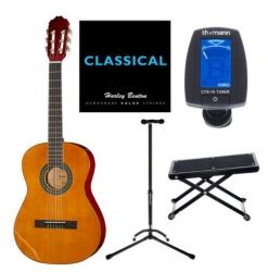 Pack de Guitarra Startone CG-851 4/4 Set 1 NT - Viola Startone + Afinador + Jogo Cordas + Stand + Descanso do Pe