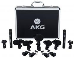 Pack de Microfones de Bateria AKG Drum Set Session I - 7 Micros + 4 Clamps + 2 Pincas + Mala
