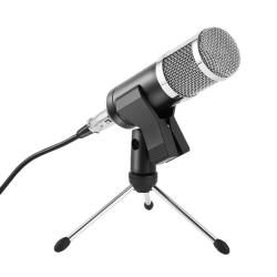 Set 22 - Microfone de Estudio de condensador + Tripe de secretaria + Pinca + Cabo