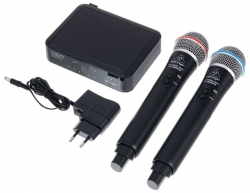 Micro sem fio 2 de mao + Receptor Behringer ULM302MIC - UHF