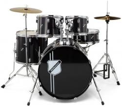 Bateria Acustica completa Millenium Focus 22 Drum Set + 3 Pratos - em preto, branco ou cor vinho