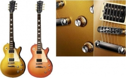 Guitarra Harley Benton L-400 Classic Series - dourada (gold top) ou laranja (shb)
