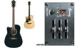 Guitarra Semi-Acustica para Esquerdinos Ibanez V72LECE BK/NT - aco - preto ou natural