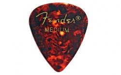 Palheta para guitarrista Fender 351 Tortoise medium - celuloide