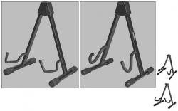 Stand para Guitarra Electrica, Semi-Acustica, Acustica ou Baixo - sem aperto