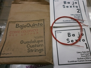 Bajo Quinto Guadalupe Red Strings 10 pc Set  Rojo new