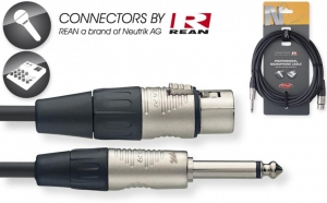 STAGG NMC6XPR 22FT N-Series Microphone Cable - XLR F / Mono Phone Plug