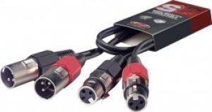 STAGG STC060XMXF 60 cm/2 ft. Twin cable - m. XLR/f. XLR