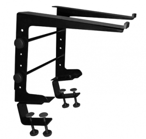 Single-tier, Multi-purpose Laptop Stand with Stand Alone Base & Multi-use Surface Clamps