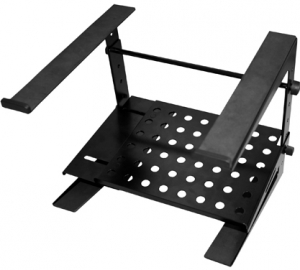 Double-tier, Multi-purpose Laptop/DJ Stand with Stand Alone Base