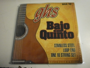 GHS BSX-10  BAJO QUINTO STAINLESS STEEL LOOP END STRING SET