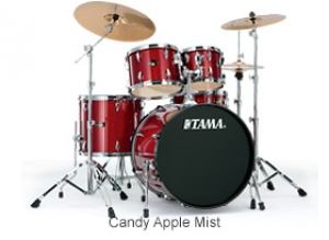 """IMPERIALSTAR 20"""" BASS DRUM KIT CANDY APPLE RED  BY TAMA"""