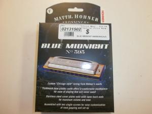 BLUE MIDNIGHT HARMONICA BOXED KEY OF (F)