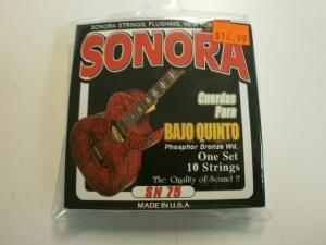 SONORA BAJO QUINTO PHOSPHOR BRONZE 10 STRING SET