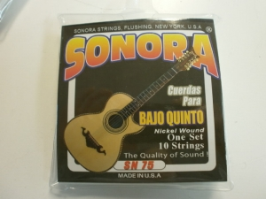 SONORA BAJO QUINTO NICKEL WOUND 10 STRING SET