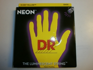 DR 4 STRING BASS SET NEON YELLOW COLOR