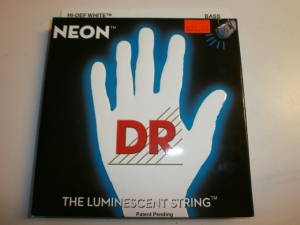 DR 4 STRING BASS SET NEON WHITE COLOR