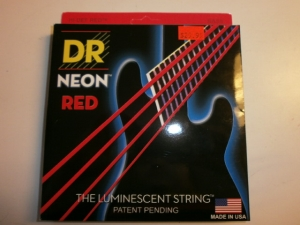 DR 4 STRING BASS SET NEON RED COLOR