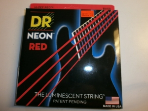 DR 5 STRING BASS SET  NEON RED COLOR