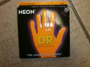 DR 5 BASS STRING SET NEON ORANGE COLOR