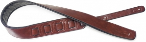 SPFL 30 RED STAGG PAD.LEATHER-STYLE STRAP- RED