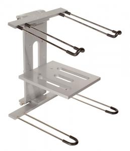 JS-LPT400 JamStands® Series Aluminum Double-tier, Multi-purpose Laptop/DJ Stand