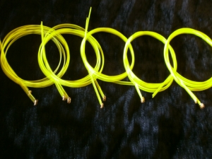 Bajo Quinto 10 PC Yellow Amarillo color string GLOW w/UV light US made.