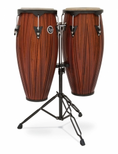 LP City Series Conga Set With Stand, Carved Mango Wood LP 646NY-CMN (New) Sku #