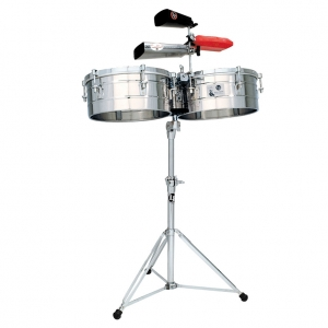 "LP Tito Puente 14"" & 15"" Timbales, Stainless Steel LP257-S (New) Sku #"