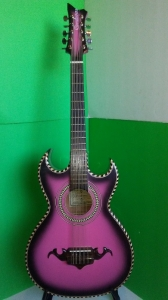 Cordovas Bajo Quinto Pink Color w/ EMG Pick Up