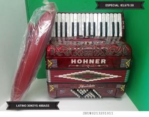 Hohner Anacleto Accordion LATINO 30 KEYS Piano  3 switch Acordeon