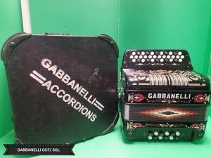 GABBANELLI  NO SWITCH 34 BUTTON 12 BASS // SOL /GCF  (USED)