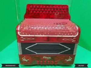 Alacran GCF / SOL  34 Button Accordion RED w/ Case & Straps New SKU 0320201833