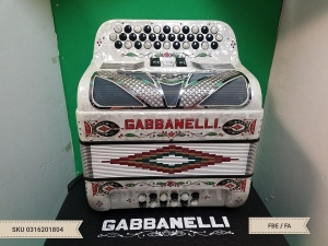 GABBANELLI 3 SWITCH 34 BUTTON 12 BASS // GCF / SOL  (USED)